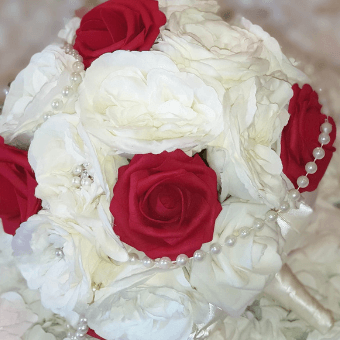 Faux Silk real touch mixed flower bouquets