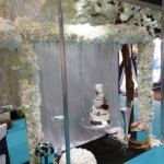 Cake Swing and Floral Arch