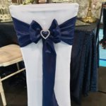 Chair Cover - blue ribbon