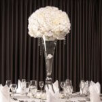 Floral Centre Piece - Clear beads