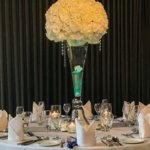 Up lit floral centre piece -green