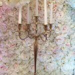 White candelabra centre piece